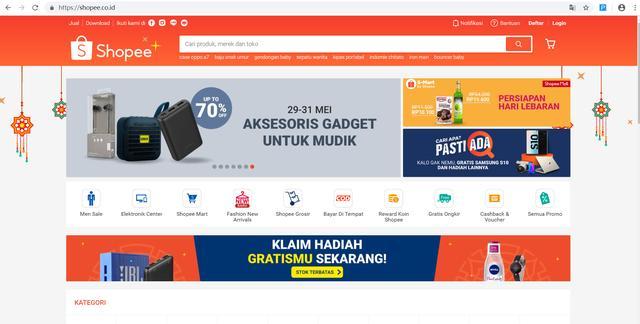 印尼流量排名前十的电商平台