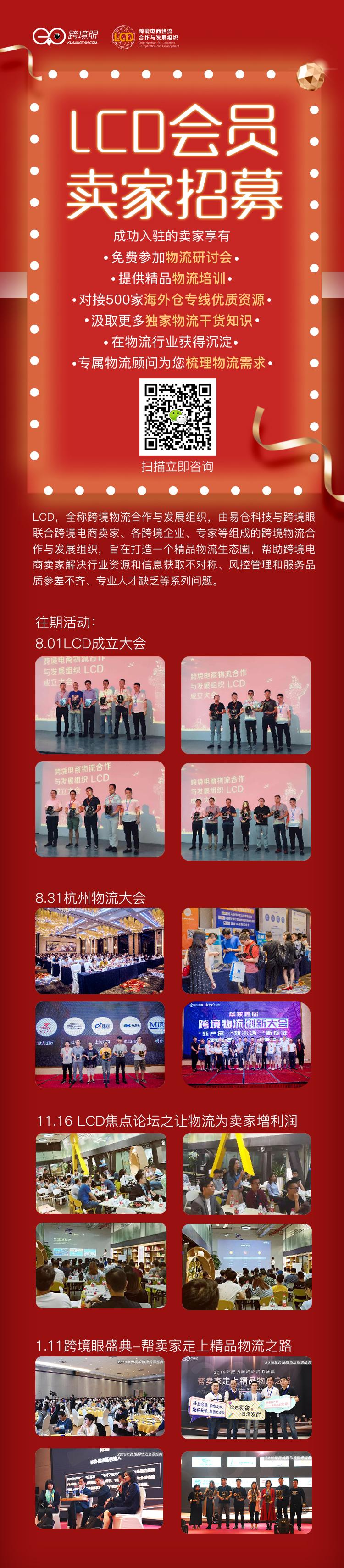 LCD卖家招募长图