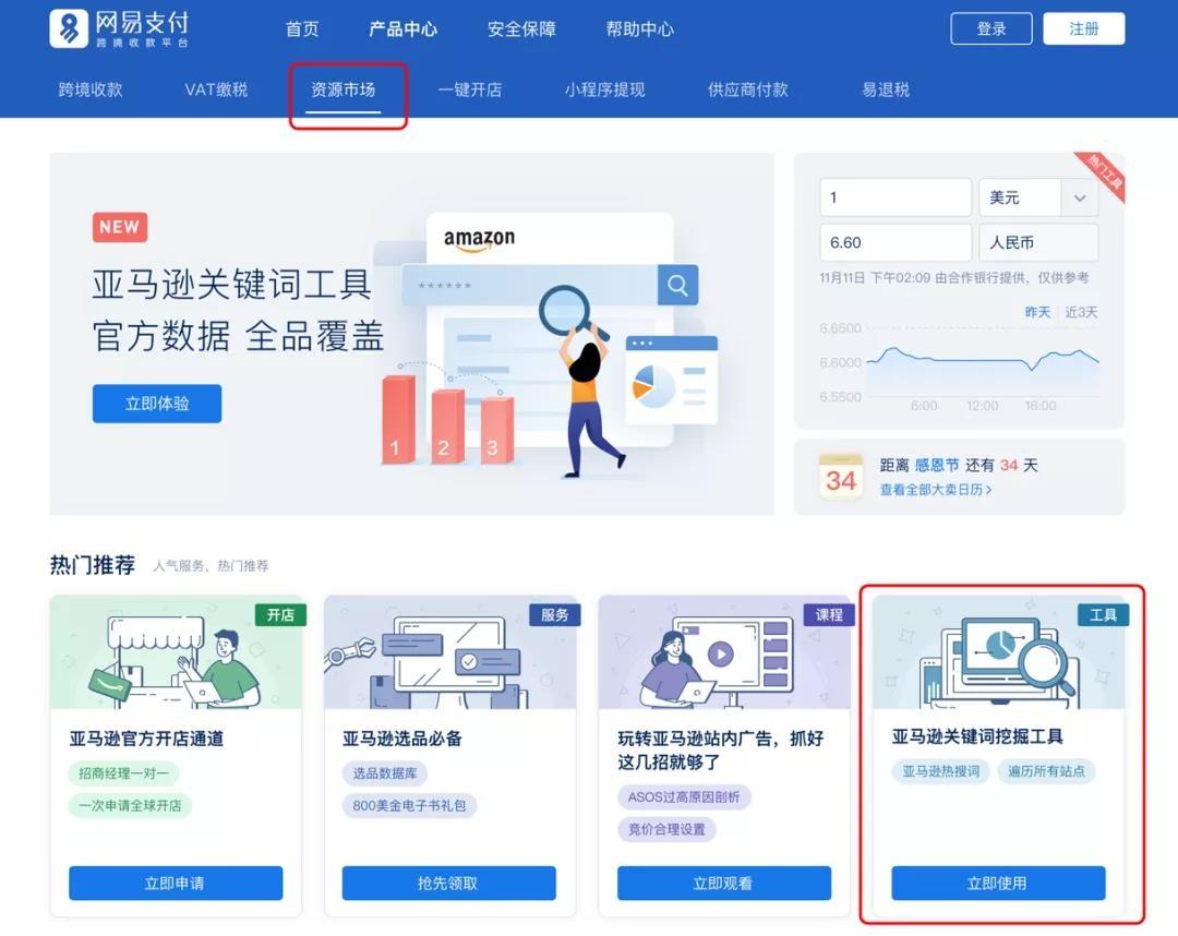 网易支付-亚马逊关键词工具