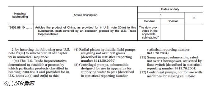 美国公布第六批关税加征排除清单!(附清单及关税查询方法)
