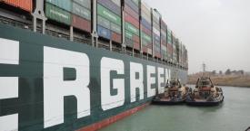 满载中国货物!货轮EVER GIVEN号,搁浅苏伊士运河