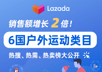 Lazada运动户外类目销售额增长2倍!热需、热搜、热卖品大公开!